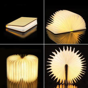 book that folds into lamp